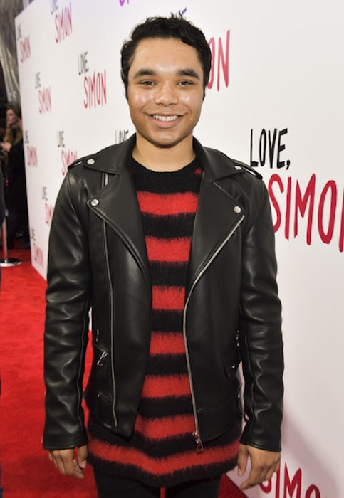 Travis Bryant at the special screening of 20th Century Fox's 'Love, Simon' at Westfield Century City in March 2018