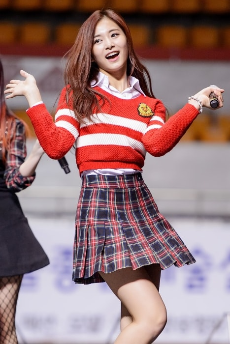 Tzuyu as seen while performing at Seoul Arts College in February 2016