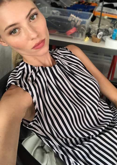Vika Falileeva in a selfie as seen in October 2018