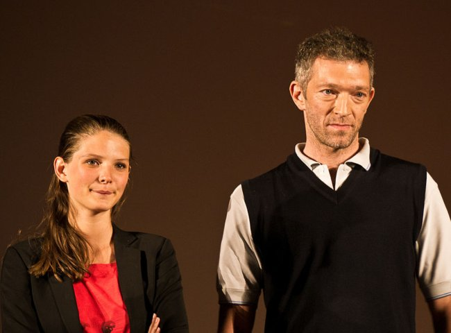 Vincent Cassel and Joséphine Japy as seen in July 2011
