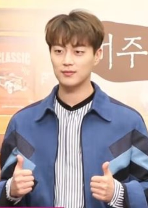 Yoon Doo-joon as seen during a press conference in February 2017