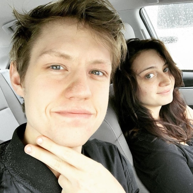 Aaron Doh in a selfie with his girlfriend Tori D'onofrio in February 2019