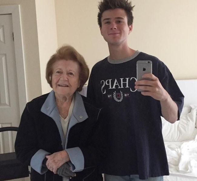 Alec Benjamin with his late grandma in a mirror selfie