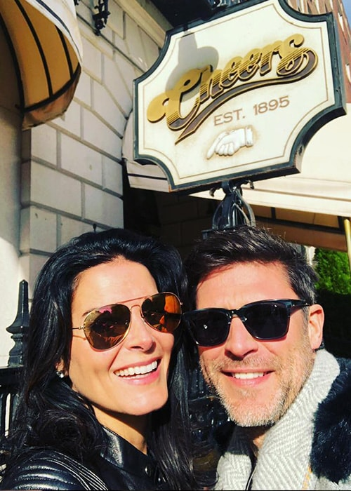 Angie Harmon with her Boyfriend Greg Vaughan in an Instagram Selfie in October 2018