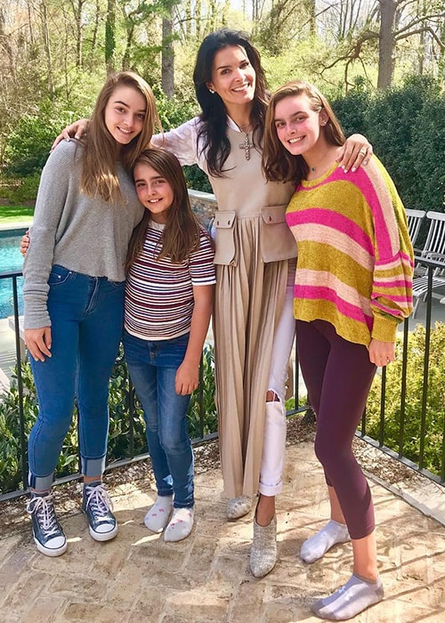 Angie Harmon with her Kids as seen on her Instagram Profile in April 2018