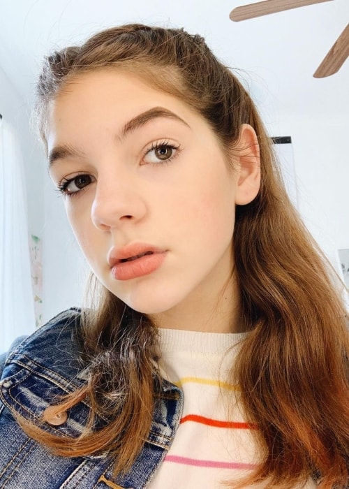 Annie Rose in a selfie in January 2019