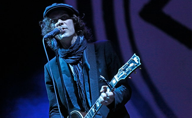 Another Shot of Ville Valo Performing at the Nova Rock-Festival in 2013