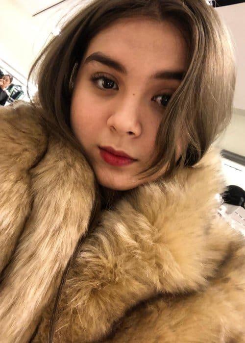 Ashley Ortega in a selfie as seen in November 2018