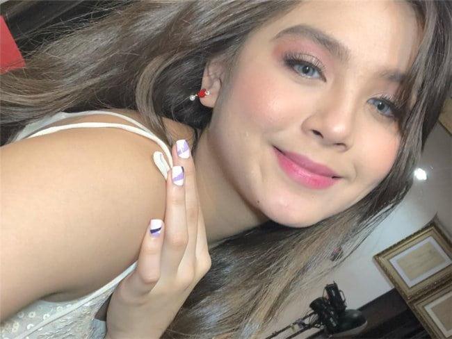 Ashley Ortega in an Instagram selfie as seen in August 2018