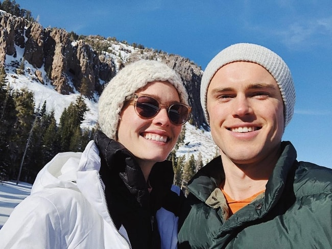 Bailey Noble with Jack DePew while enjoying their time in Mammoth Lakes, California in January 2019