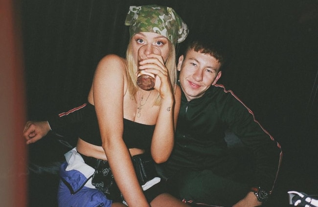 Barry Keoghan and Shona Guerin at Barclays Center in September 2018