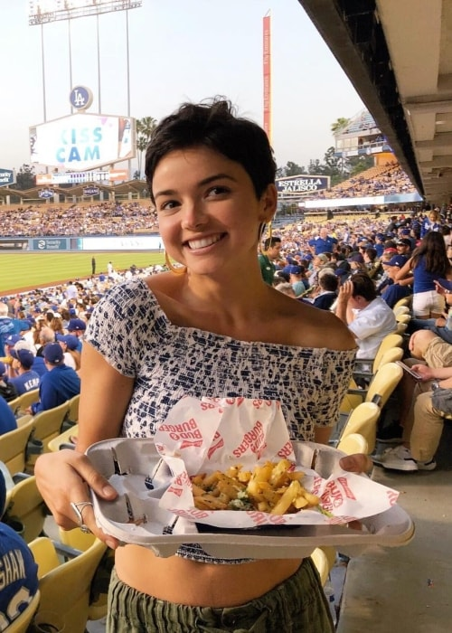 Bekah Martinez as seen in a picture at the Dodger Stadium, Los Angeles in June 2018