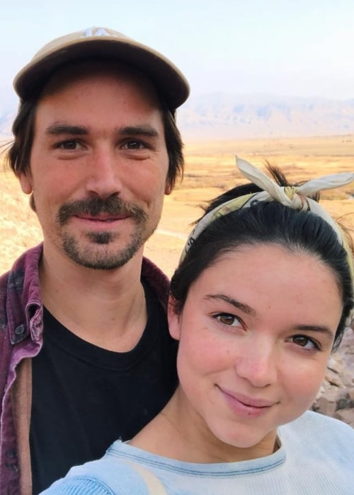 Bekah Martinez as seen in a picture with Grayston Leonard in Bishop, California in November 2018