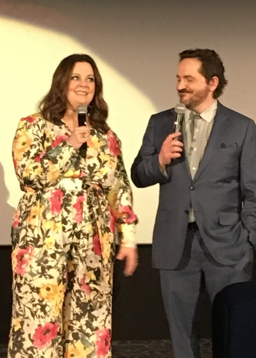 Ben Falcone with Melissa McCarthy at the premiere of 'The Boss' in March 2016