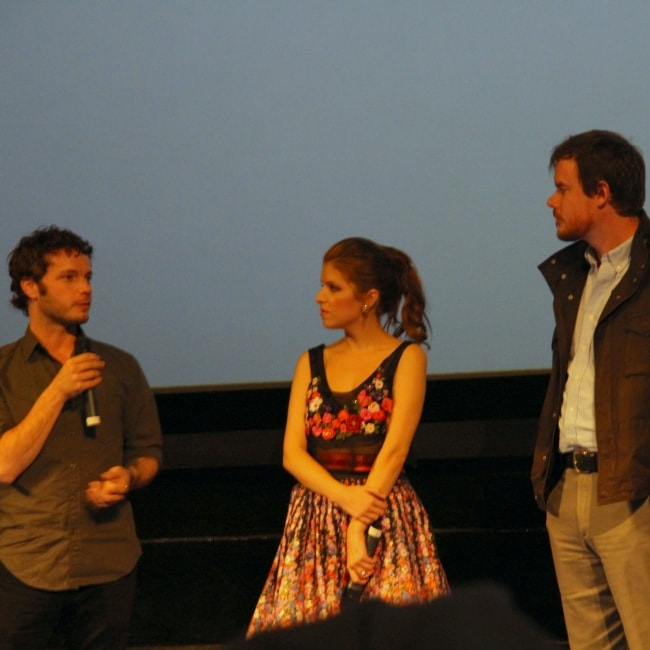 Ben Richardson as seen a picture with Anna Kendricks and Joe Swanberg at the premiere of Drinking Buddies in October 2013