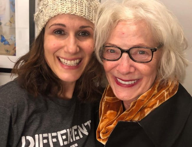 Betty Buckley (Right) and Stephanie J. Block as seen in December 2018