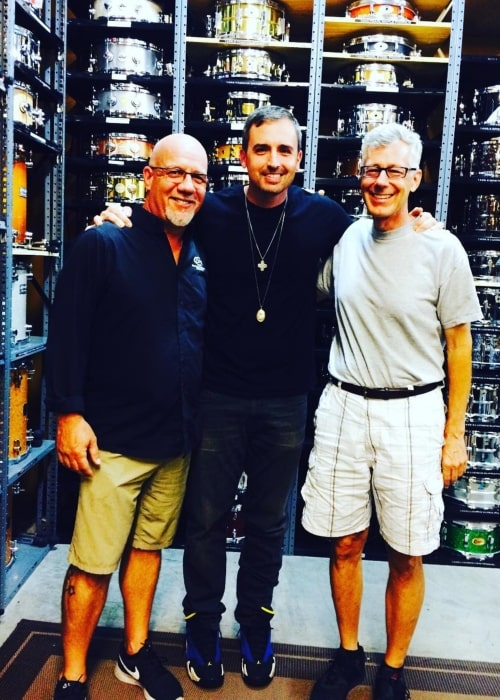 Brad Fischetti as seen in a picture with LFO drummers Tim and Floyd in June 2017