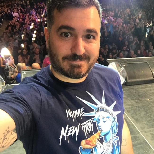 Brian Quinn in a selfie at the O2 Arena in December 2017