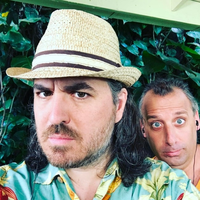 Brian Quinn in a selfie with Joe Gatto in Hawaii in April 2017