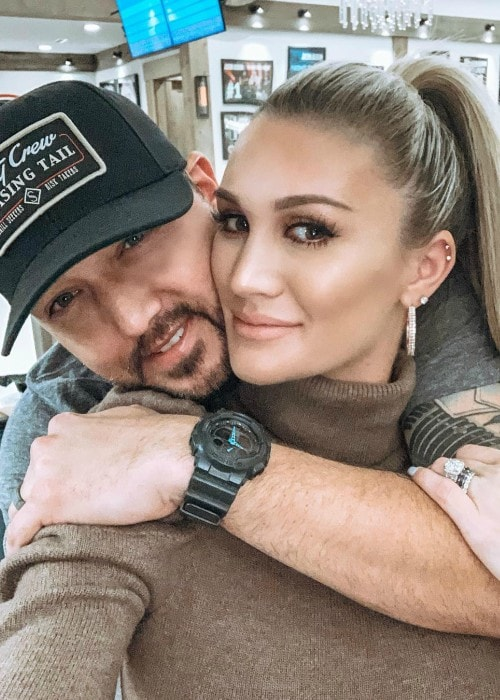 Brittany Kerr as seen with Jason Aldean in an Instagram selfie in January 2019