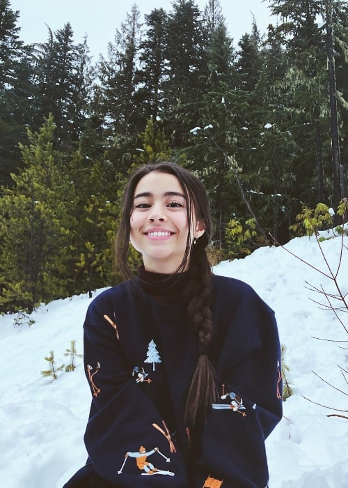 Ciara Riley Wilson as seen in Mount Hood, Oregon in December 2018