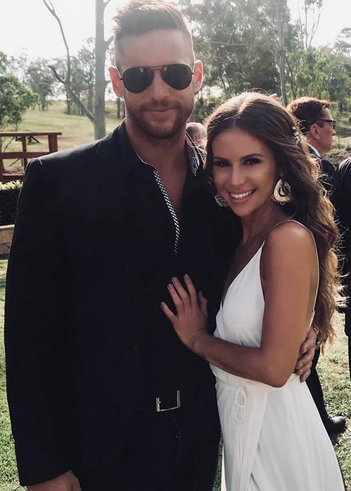 Dan Ewing with his Girlfriend Katrina Risteska as seen on his Instagram Profile in December 2018
