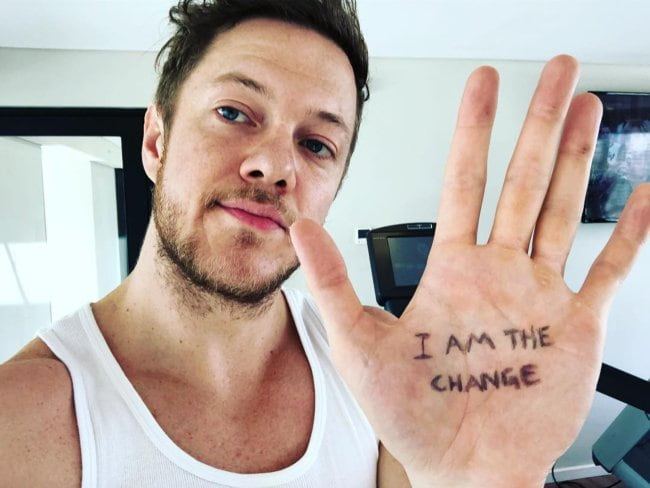 Dan Reynolds in an Instagram selfie as seen in March 2018