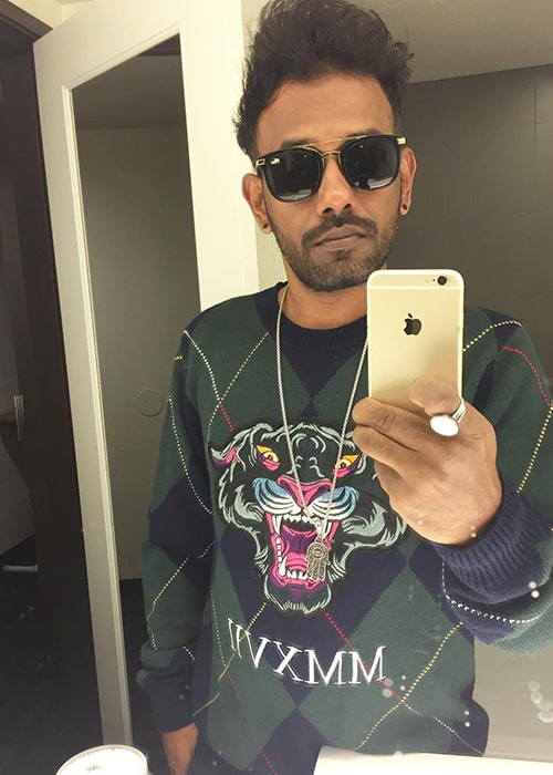 Dharmesh Yelande in an Instagram Selfie in February 2019