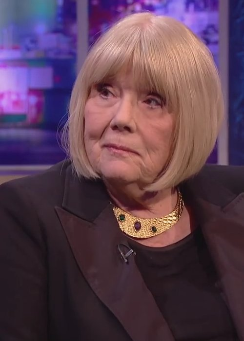 Diana Rigg during an interview as seen in January 2015