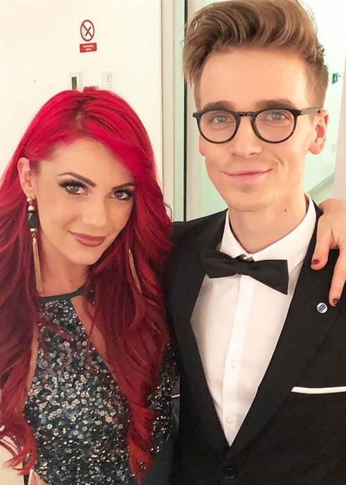 Dianne Buswell with her Boyfriend Joe Sugg as seen on her Instagram in December 2018