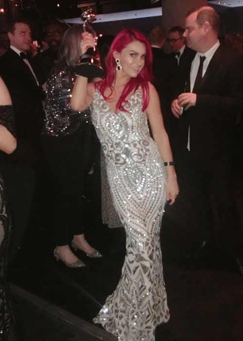 Dianne Buswell with her NTA Trophy as seen on her Instagram Profile in January 2019