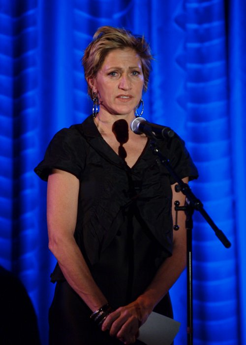 Edie Falco during an event in February 2010