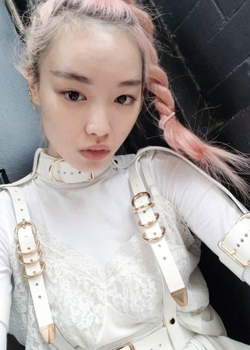 Fernanda Ly in a selfie in August 2018