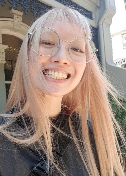 Fernanda Ly smiling in a selfie in January 2019