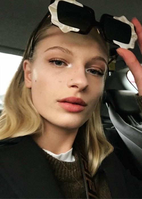 Frederikke Sofie in an Instagram selfie as seen in February 2018
