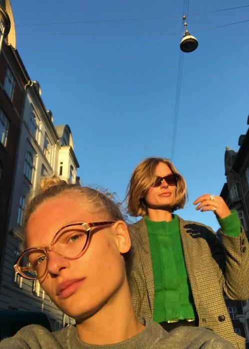 Frederikke Sofie in an Instagram selfie in May 2018