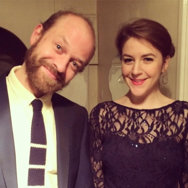 Gemma Whelan with Gerry in December 2016
