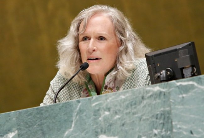Glenn Close at the Social Innovation Summit in May 2013
