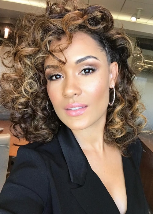 Grace Byers in a selfie in September 2018