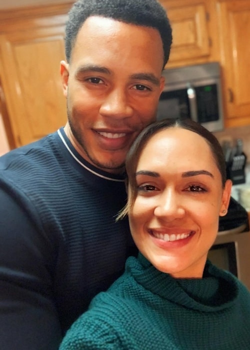 Grace Byers in a selfie with Trai Byers in November 2018