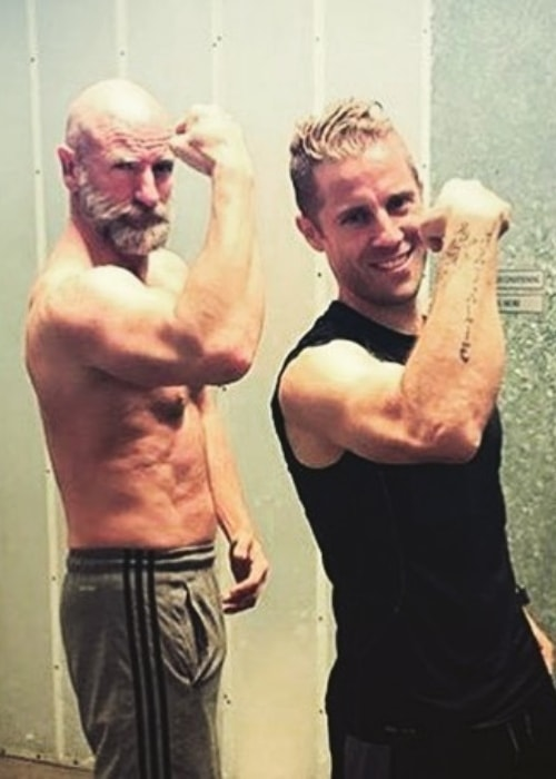 Graham as seen in a picture with fitness trainer Nicky Holender in April 2016