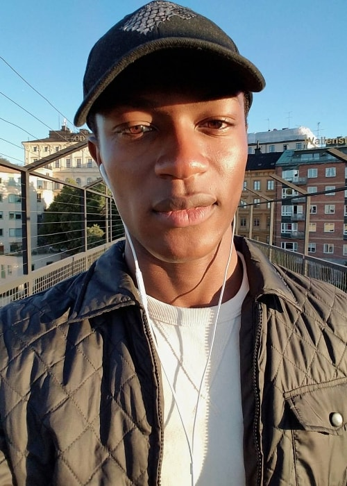 Hamid Onifade in a selfie during a sunset in Slussen in September 2016