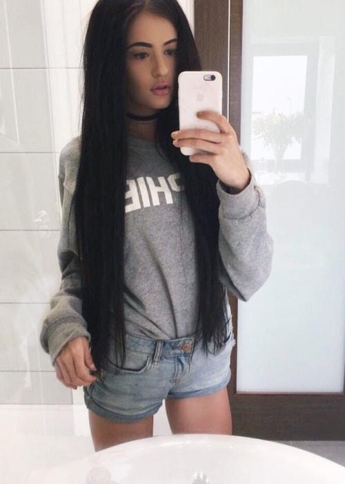 Holly H in a selfie in September 2016