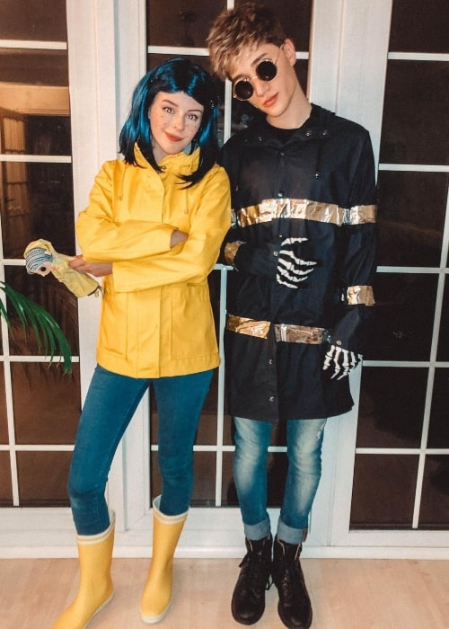 Houssein South and Amelia Gething dressed-up for Halloween in October 2018