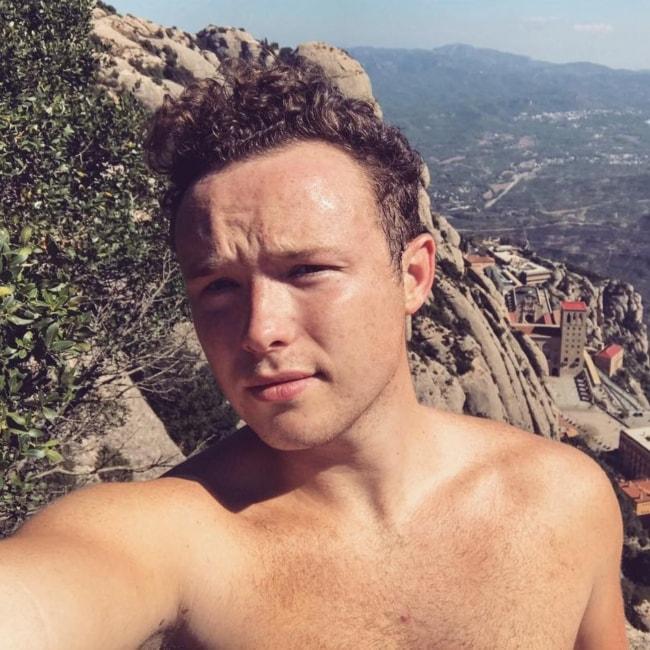 Ian Colletti in a selfie taken in Montserrat in October 2017