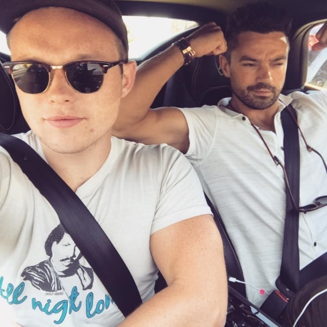 Ian Colletti in a selfie with Dominic Cooper in May 2018