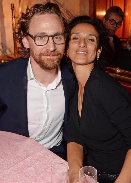 Indira Varma with Tom Hiddleston