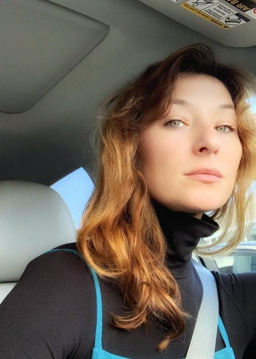 Isidora Goreshter in a selfie in January 2019