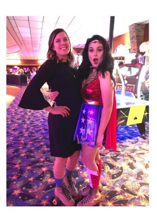 Ivory Layne dressed as Wonder Woman in a picture taken in October 2018