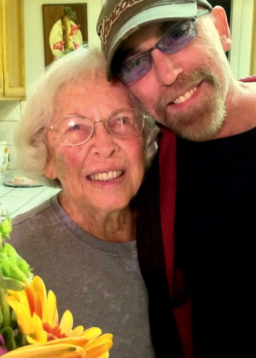 Jackie Earle Haley in a selfie with his mother in May 2016